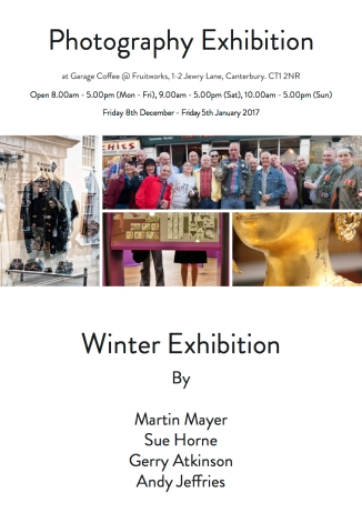 Garage Coffee - Winter Exhibition - Exhibition Flyer - JPEG