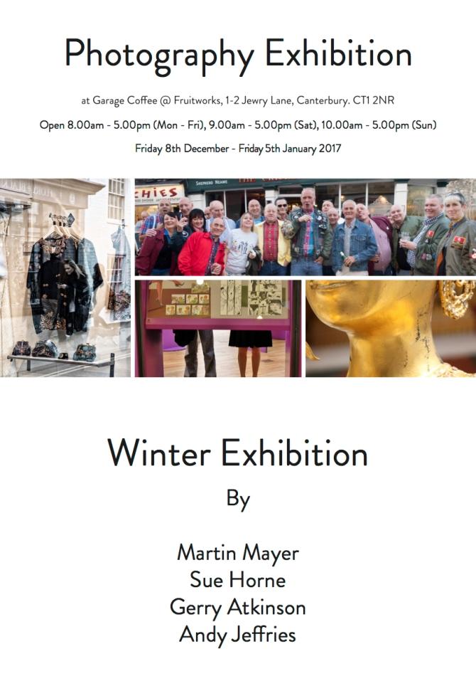 Garage Coffee - Winter Exhibition - Exhibition Flyer - JPEG